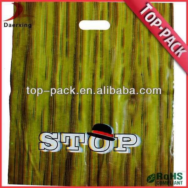 Custom PE shopping resealable plastic bags