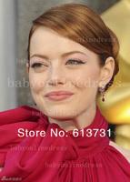 Эмма камень конкурс платье высокий воротник этаж Длина красный шифон створки знаменитости красный ковер вечерние платья bo1406