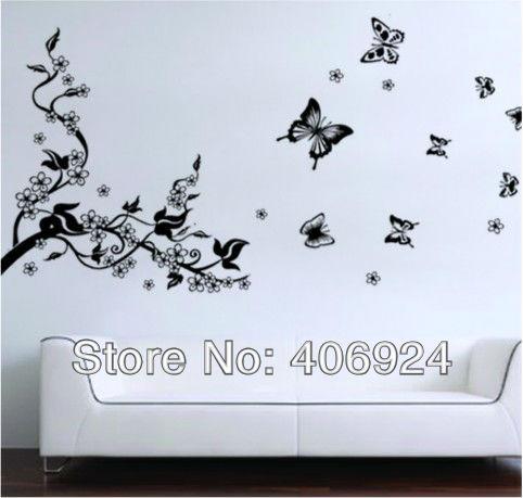 Dibujos de mariposas para la pared imagui - Mariposas en la pared ...