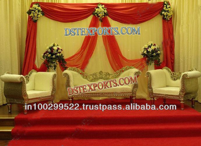 BEAUTIFUL WEDDING GOLD SOFA SET