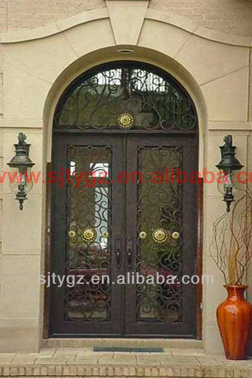 vendita calda la porta a vetro inserti di ferro battuto-porta-id ... - Legno Di Teak Porta Dingresso Di Fusione