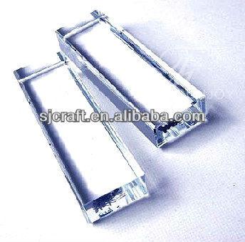Cubo de vidro Cubo De Cristal Em Branco, Cristal Branco, bloco de cristal branco