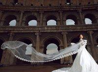 Свадебная фата Bridal veil 5 meters long elegant aesthetic veil wedding accessories extra ultra long veil white and Ivory white