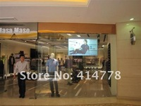Most professional 1.5X4M rear holographic film for glass window shopping with perfect display effect!