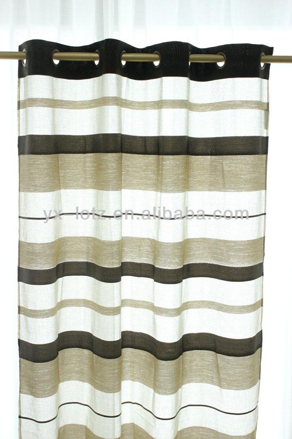 black/white horizontal dyed line window curtain