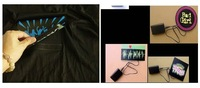 Мужская футболка EL T-shirts, t shirt, equalizer t-shirt, el tshirt sound active, el music flashing tshirt, led tshirt 77021A