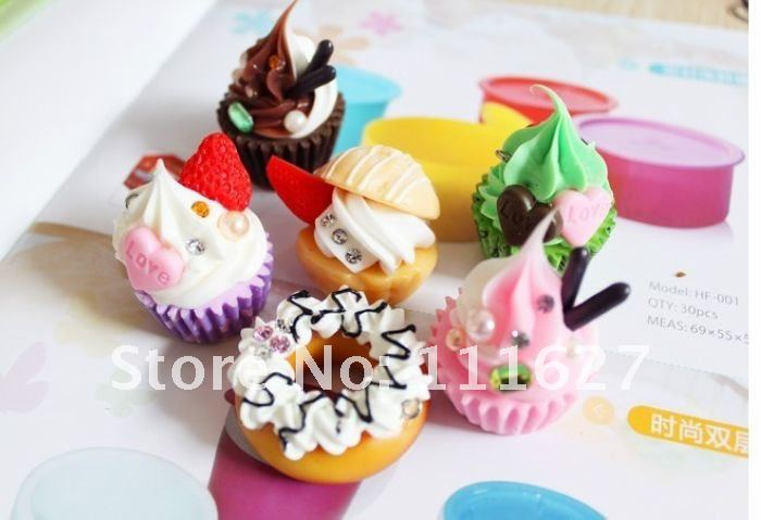 Free Shipping,cake Squishy Cell Phone Charm/bag,phone straps/bag pendant/rainbow toppings wholesale Ll-01-024