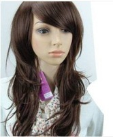 Шиньон W&L new dark brown wave sexy women hair wig wigs