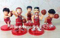 Лучшие продажи! хлопайте замочить баскетбол игрок ПВХ рисунок набор, 5 шт/комплект