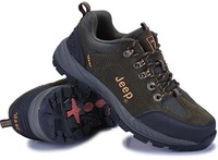 Товары на заказ Jeep 2013 MEN'S GENUINE LEATHER SPORT SHOES BOOTS OUTDOOR CAMPING HIKING CLIMBING TRAVEL ANTI-SKID RUBBER BOTTOM