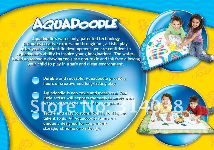 Free ship Hotest Promotion/Free shipping/Bestselling American Aquadoodle Drawing Mat&1 Magic Pen/Water Drawing Replacement Mat