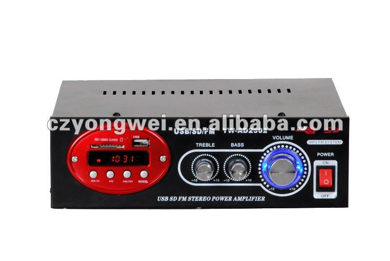 wonderful Blue light flash car audio amplifier 2 channel