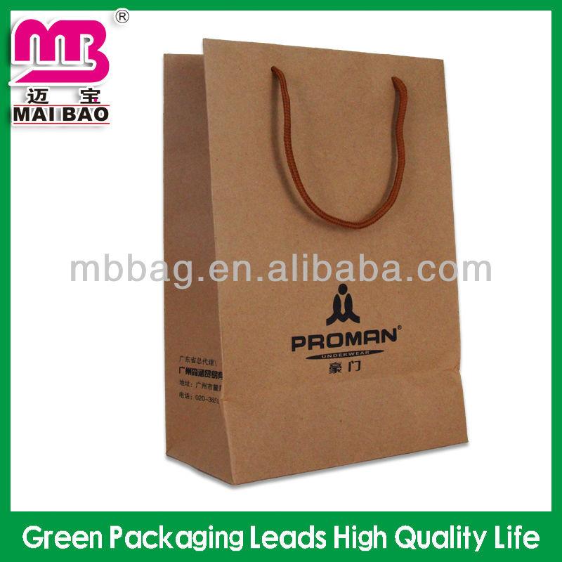 custom design brown grocery bags