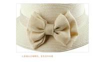 Женская панама New Summer Natural hemp straw hat bowknot women straw hat Beach Sun Hat 4 Color H13