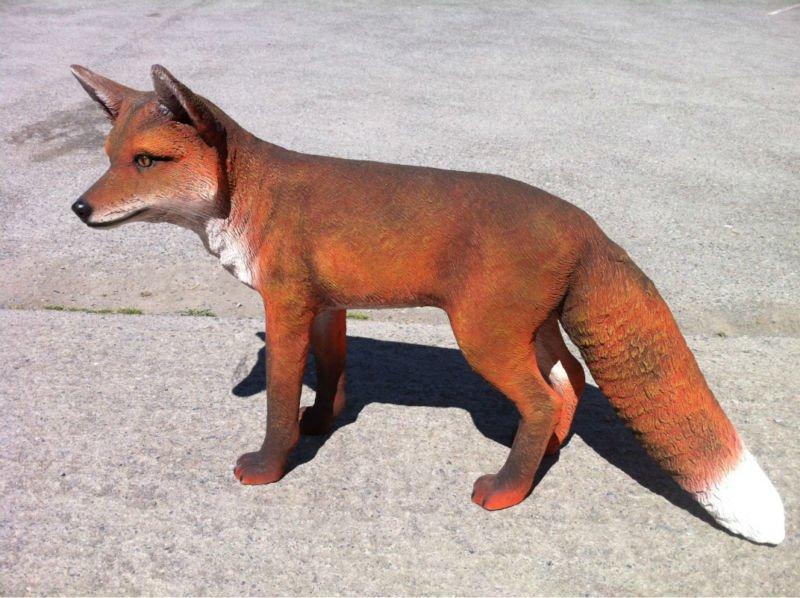 Fox statue to keep deer away