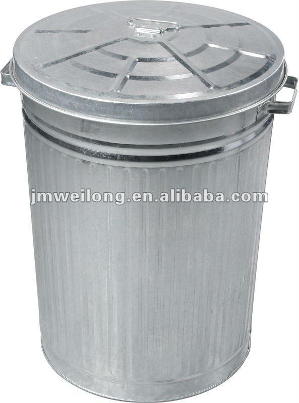 Ext rieur grande m tal galvanis poubelle poubelle id de for Grande poubelle exterieur