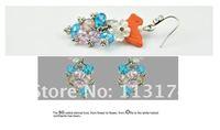 Free Ship Supee Fashion Women's Drop Earrings Graceful Shell Gold Plating 18k Tassel Earring Charming Crystal Dangler Promotion