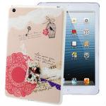 3D Cartoon Pattern DIY Series Anti-scratch Ultra-thin Plastic Protective Case with Keys for iPad mini