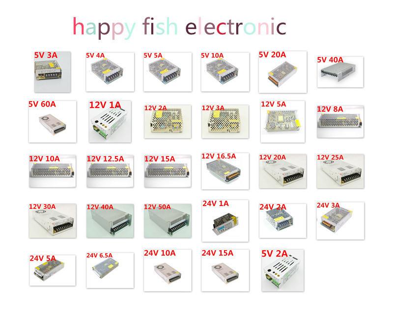 Светодиодная лента Fish DC 12V 1A /2a/3.2a /5a/8.3a /10a LED AC 100/240v 3528 5050