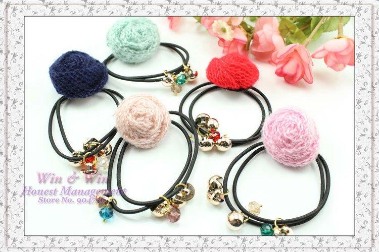 Fabric Elastic Bands Elastic Hair Bands Beads