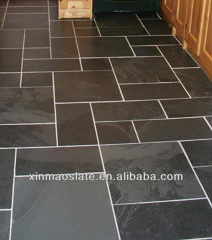 Natuurlijke zwarte leisteen tegel vloer voor keuken vloer leisteen ...