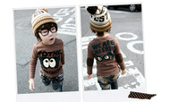 spring and autumn winter children clothes boys sweater child clothing T Shirt free shipping