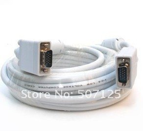10 meters VGA cable,  extension, 10m PC, vga to tv converter, needle, 15 pin for 15 pin,With anti-magnetic head, extender
