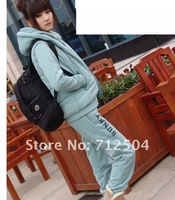 Women Fleece Tracksuit Thick 3 Pieces Hoodie Jacket and Pants set 5 Colors Free Shipping