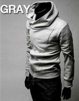 free shipping men hoodies mencotton sweatershirt high collar dust coat men's jacket M L XL XXL XXXL MHD2
