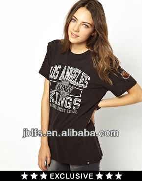 Custom OEM Women T shirts with Printed Design