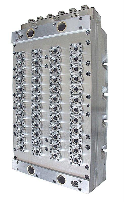 48-cavity preform mold (cavity side)