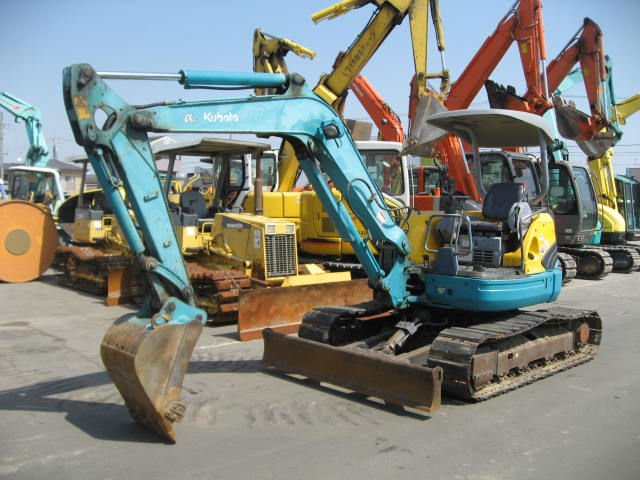 Mini excavator prices for USED KUBOTA