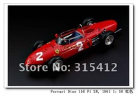 Free Shipping by EMS!!wholesale and retail 1:18 CMC for FERRARI DINO 156 F1 #2 Sharknose 1961 Model,car model,Christmas gift