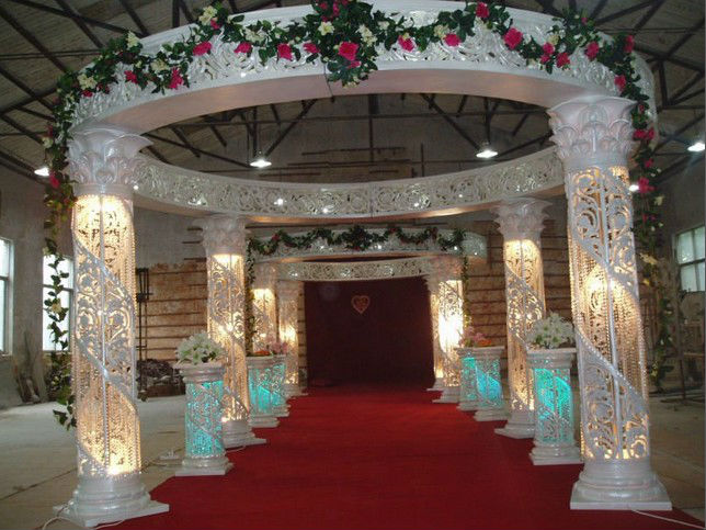 2013 Latest design decorative wedding pagoda/mandap/pillars