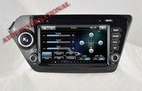 Автомобильный DVD плеер ATOP K2 RIO 8 DVD GPS Player for KIA 3D Menu Wince 6.0 600MHZ CPU 256RAM