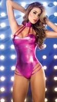 сексуальный Косплей костюмы женщин латекса, Ночной клуб ds игры платье, полюс танец одежды, Клубная одежда, эротическое черный/розовый
