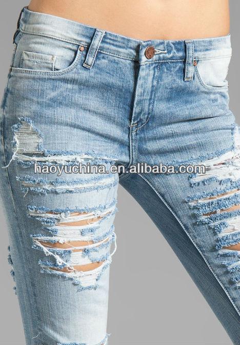2014 fashion denim jeans heavy ripped jeans women skinny. Black Bedroom Furniture Sets. Home Design Ideas