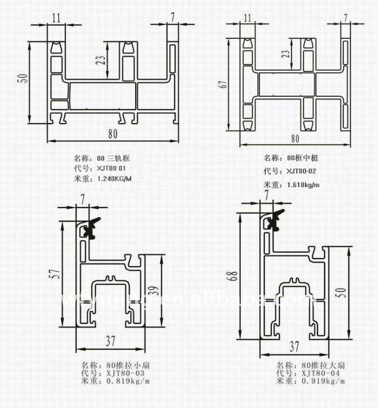 Yujing Pvc Profile Sliding Windows And Doors New Window Grill Design ...