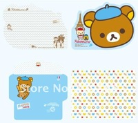 Бумага для писем New Cute cartoon Rilakkuma envelopes & letter paper Set / Fashion Stationery