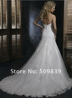 Свадебное платье Elegant A-line Floor-length Strapless Organza and Tulle Embroidery Wedding Dress/Brial Gown/Bridesmaid Gown