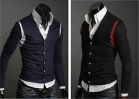 Men's Sweater Cardigans Knitwear V-neck Slim Casual Sweater Free Shipping 2923