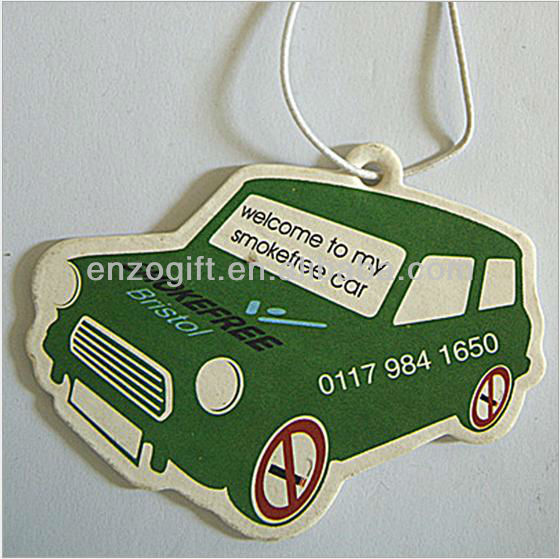 High quality car freshener, hanging air freshener card factory fruit series