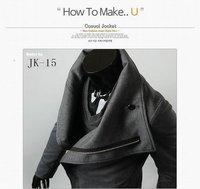 куртки для мужчин, простой случайный пальто куртки, сплошной цвет & стенд воротник fashuion куртка м-xxl черный/серый jk15
