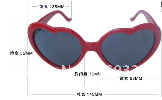 New! lovely peach heart sunglasses, special sun glasses, peach heart glasses, 10 pcs/lot