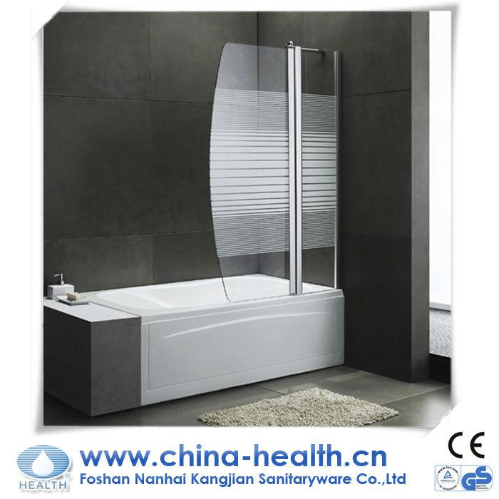 vetro temperato porta della doccia per vasca da bagno