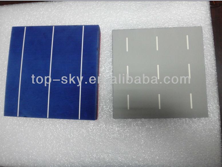 2014 Taiwan brand 156mmx156mm multicrystalline solar cell, 6inch 3BB high efficiency multi cell