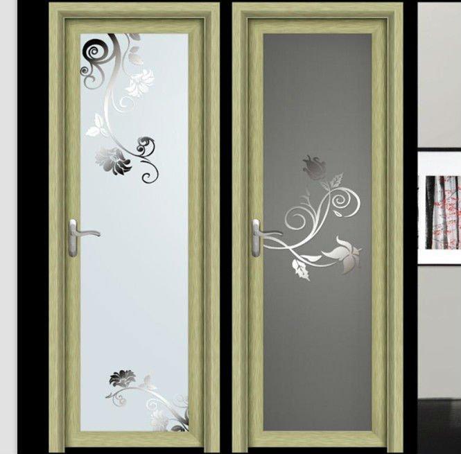Frosted glass aluminium bathroom doors designs buy for Aluminium bathroom door designs