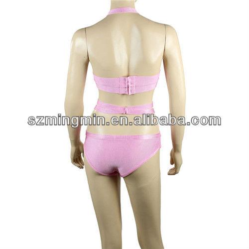 2014 pink extreme bikini swimwear sexy bikini bandage