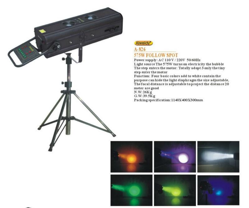 Hot selling HMI 575W Stage Follow Spot Light  hmi light