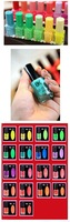 Лак для ногтей BK fluorescent polish nail oil 20 colors glow in the dark, magnetic neon luminous art nailoil professional candy color free ship